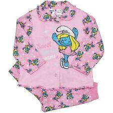 Smurfs NWT Baby Girls Flannel Pyjamas (PJ's) size 00 - FAST 'N' FREE POSTAGE