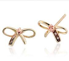 New Clogau 9ct gold Tree of Life Bow Diamond set stud earrings TOLBE £219