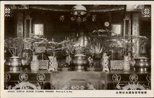Penang Malaysia Snake Temple Subgei Kluang Real Photo Postcard #1