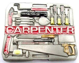 Carpenter Tools Belt Buckle saw hammer