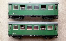 G scale LGB TWO (2) Austrian OBB passenger coaches - in excellent cond'n - RARE