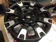 "GENUINE FIAT 500 14"" black & Diamond 8 Spoke Alloy Wheels 50927759 et35 5.5jx14"