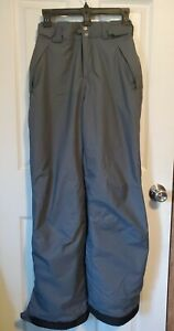 Mens Columbia Omni Tech Waterproof Ski Snow Snowboard Pants gray Size XS