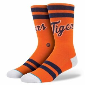 STANCE Men's Detroit Tigers Crew Sock SIZE SMALL / MEDIUM (6-8.5) NWT $18.00