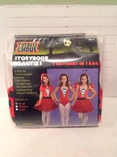 NWT Storybook Beauties 3 Costumes in 1 Bag Red Riding Hood Gymnast & Ladybug M