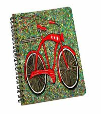 Spiral A5 Notebook Hardcover Bicycle Lined Notes Journal Stationery Pad