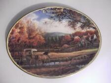 Terry Redlin SEASONS TO REMEMBER November Calendar Wednesday Afternoon Plate EUC