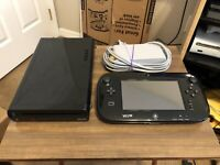 NINTENDO WII U 32GB SYSTEM Set - Tested & Works! Black Console WUP-010 (USA)