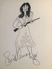 Lucie Arnaz Signed Al Hirschfeld Print - ANNIE GET YOUR GUN - Broadway