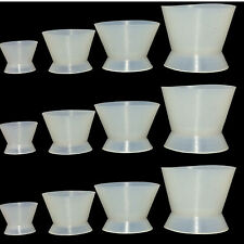 12Pcs Dental Temporary Crown Silicone Mixing Bowl Cup XS/S/L/M 4Pcs/pack CE UK