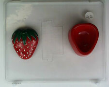 STRAWBERRY POUR BOX CLEAR PLASTIC CHOCOLATE CANDY MOLD AO090