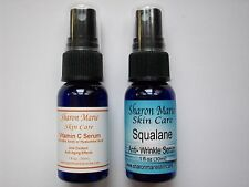 15% Vitamin C Serum & Squalane 1oz each Sagging,dry skin,Use after dermarolling