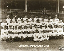 Jackie Robinson First Team Photo Brooklyn Dodgers 1947 Dodger Stadium Baseball