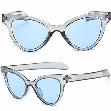 Mujer Ojos De Gato Retro Plástico Marco Gafas de sol vintage moderno UV400 CE