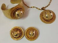 Antique Ethiopia jewelries set Ethiopian earrings bracelet pendant (m1870)