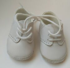 Baby Deer White Leather Saddle Oxfords Booties Crib Shoes Boys 3-6 M Sz 2 Infant