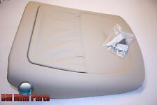 BMW E53 X5 FRONT SPORT SEAT BACK LEATHER PANEL with BAG HELL BEIGE 52107057755