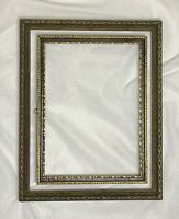 Lot/2 Gold Gilt Black Carved Ornate Wood Picture Frame Fits 6.5x8.5 5x7 Art Deco