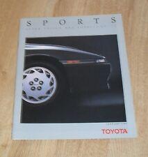 Toyota Sports Brochure 1989 - Supra 3.0 Turbo Celica GT Four MR2 Mk1 Corolla GTI
