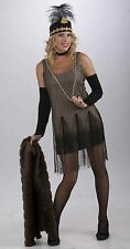 Flapper Dress Black Gold Roaring Twenties Gangster Womens Adult Costume Small