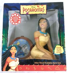 New Vintage Sealed 1995 POCAHONTAS Deluxe Musical Alarm Clock. Disney's