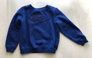Nike Logo Sweatshirt Blue Toddler Boys XS  (4)