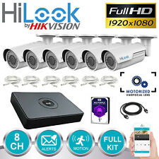 Hikvision Sistema CCTV POE IP 4MP 8CH 6X 1080P Cámara Bullet NVR vf Zoom Kit 1TB