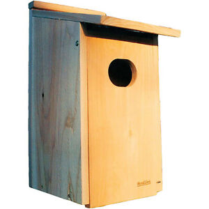 Woodlink WD1 Wood Duck Nesting House Box with 4 x 3-Inch Oval Entrance Hole