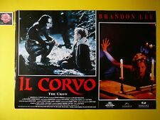 F163 FOTOBUSTA ORIGINALE IL CORVO( THE CROWN ) - BRANDON LEE- ERNIE HUDSON - '94