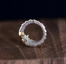 Solid 925 Sterling Silver Mens Eagle Claw Ring Tail Ring Adjustable Size
