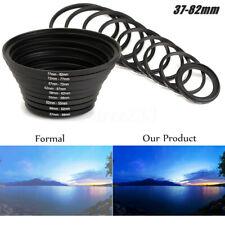 18X Filter adapter Kamera Objektiv Step Up + Down Ring 37-82mm 82-37mm Set Alu !