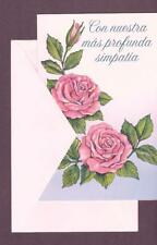 Spanish Greeting Card, With Our Deepest Sympathy
