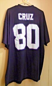 Victor Cruz New York Giants Majestic Shirt Size 2X BLACK SHORT SLEEVE