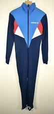 ADIDAS VINTAGE 70s FULL ONE PIECE STRETCHY ZIP UP BODY SUIT SKIN ONESEY size S