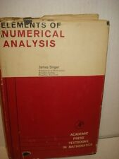 Vintage 1964 Elements of Numerical Analysis By James Singer - Hardcover with DJ