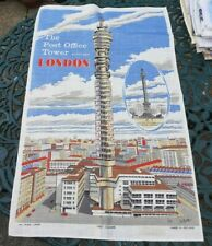 Vintage Tea Towel Post Office Tower LONDON GPO 1970 MADE IN IRELAND by Ulster