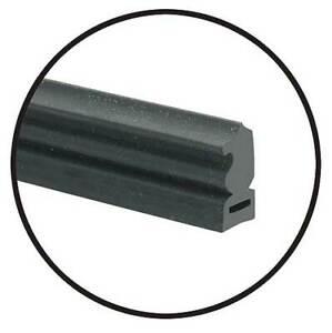 Quarter Window Vertical Seals - Plain Rubber - Ford & Mercury 49-31656-1