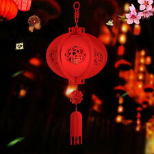 Happy New Year Chinese Red Lucky Lantern Hanging Spring Festival Decoration FLW