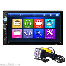 7010B 7 Inch Bluetooth V2.0 Car Audio Stereo Touch Screen MP5 Player with Camera