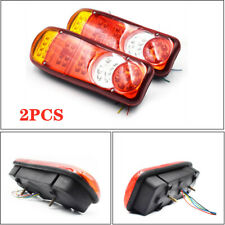 1 Pair LED Trailer Lights Stop Reverse Indicator Fog Lamps Truck Boat Universal
