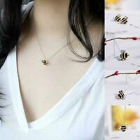 Bee Pendant Necklace Charm Insect Bumble Worker Gift Jewellery Z0X2