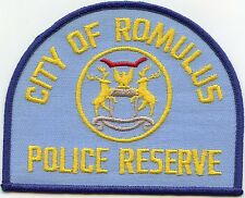 ROMULUS MICHIGAN MI Police Reserve POLICE PATCH