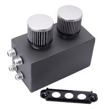 Oil Catch Tank 2.5L Oil Catch Can Reservoir Tank Dual Breather Filter Universal