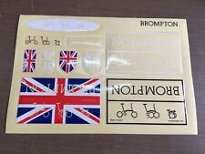 Bicycle Sticker for Brompton decal frame logo union jack 1 set