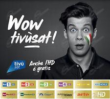 Offerta TIVUSAT Scheda Gold HD per Vedere Rai Mediaset La7 SmartCam ORO Tivù Sat