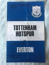 30th  March 1974 Tottenham H. v Everton Programme Division One 30/03/74