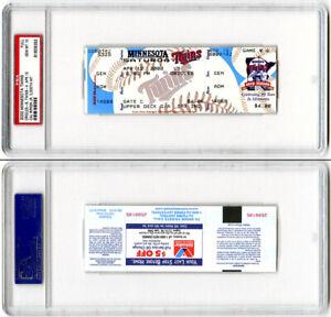 Cal Ripken Jr. 3000 HIT FULL TICKET ENCAPSULATED Baltimore Orioles PSA/DNA Mint
