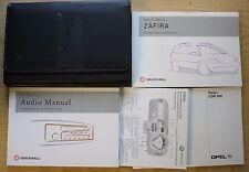 VAUXHALL ZAFIRA B OWNERS MANUAL HANDBOOK WALLET 2003-2005 PACK 12267