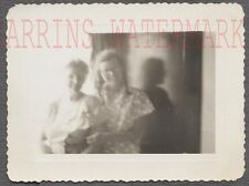 Unusual Vintage Photo Blurry View of Women in Arms & Show  704225