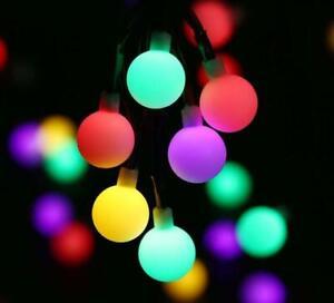 Battery 80 LED Bulb Ball Lights Garden Fairy String Christmas Tree Bedroom Decor